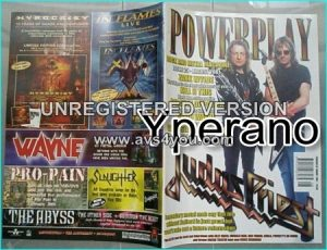 Powerplay magazine 25, 2001 Judas Priest on cover, Zakk Wylde, Kansas, Yes, AC/DC, Metal Church,