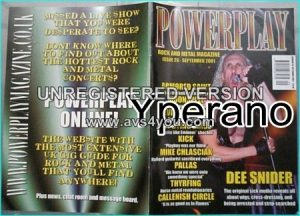 Powerplay magazine 26, 2001 Dee Snider Twisted Sister cover, Armored Saint, Moonspell, Devin Townsend, My Dying Bride, Megadeth