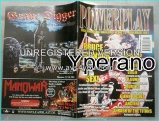 Powerplay magazine 28, 2001 Bruce Dickinson Iron Maiden cover, Biohazard, Testament, Vixen, L.A. Guns, Glenn Hughes, Saxon