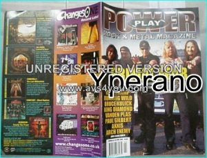 Powerplay magazine 32, April 2002, Primal Fear on cover, Mike Tramp, Arch Enemy, Running Wild, King Diamond, Vanden Plus, Kiss