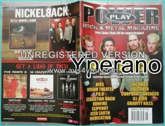 Powerplay magazine 33, May 2002 Nickelback on cover, Kiss, Dream Theater, P.O.D, Sebastian Bach, Bonfire, Slipknot, Iced Earth