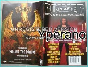 Powerplay magazine 34, June 2002, Dio on cover, Motorhead, Manowar, Dio, UDO, System Of A Down, Cheap Trick, Marillion-