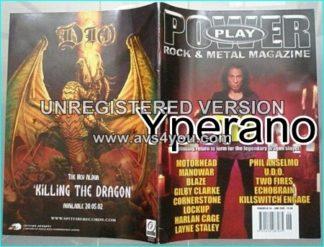 Powerplay magazine 34, June 2002, Dio on cover, Motorhead, Manowar, Dio, UDO, System Of A Down, Cheap Trick, Marillion-