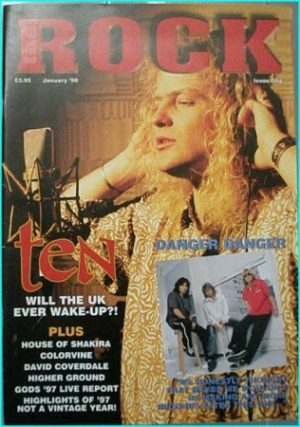 ROCK Magazine Issue 1, January 1996. Ten, Danger Danger, House of Shakira, David Coverdale, Gods 97 live report