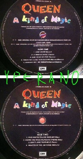 QUEEN: A Kind of Magic LP (No sleeve, just the vinyl) UK. Free for orders of £28+ Check video.
