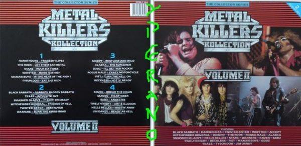 Metal Killers Kollection 2LP in gatefold sleeve 1986. Black Sabbath, Accept, Fist, Raven