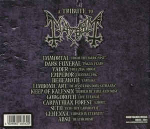 A Tribute to MAYHEM: Originators of the northern darkness CD + Huge  booklet!!! Check audio (all songs, edited samples)  Immortal, Dark funeral,  Vader,