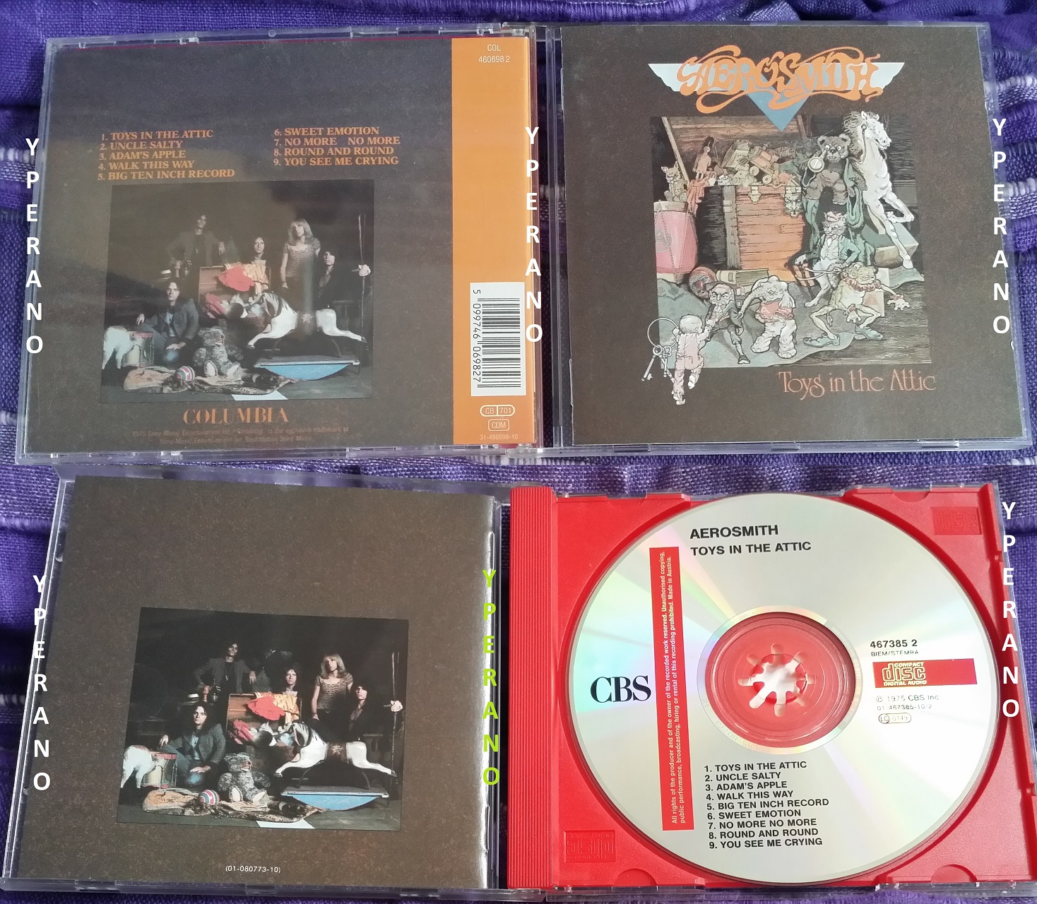 Aerosmith Toys In The Attic Cd Every Single Song Is