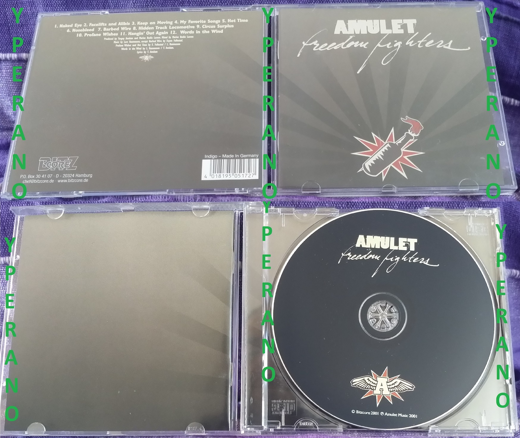 AMULET: Freedom Fighters CD  Best hardcore album since Feel The Darkness  (Poison Idea)  Check video and ALL audio samples