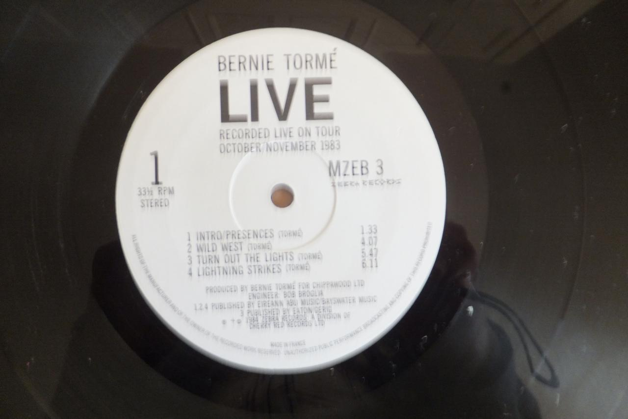 Bernie Torme Live Lp 1984 Early Iron Maiden And Mccoy