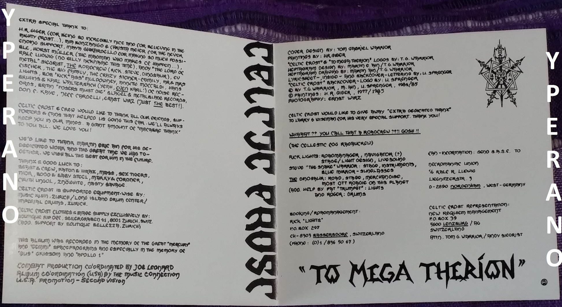 Celtic Frost To Mega Therion Cd Rare Combat Noise 1986