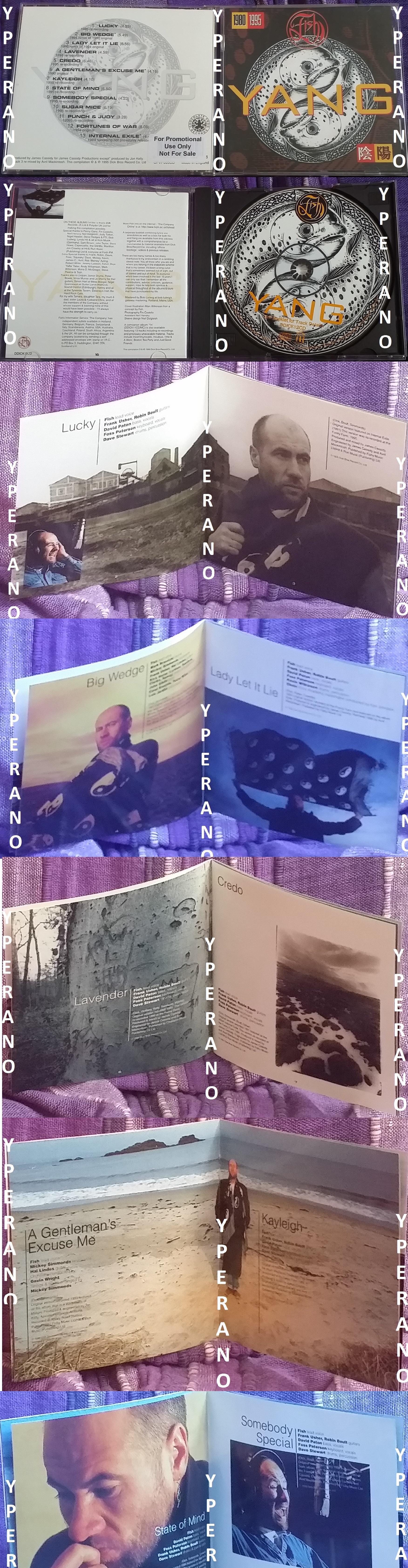 FISH: Yang PROMO CD RARE re-recordings and re-mixes! Marillion singer   Chocolate Frog Records  Check sample