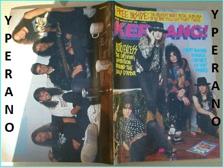 KERRANG - No 222 Jan 1989  Near Mint condition  Dogs D'Amour Cover,  Niagara, Coroner, Victory, Sword, Warrant, Prong, Metallica, Trust, Blue  Oyster