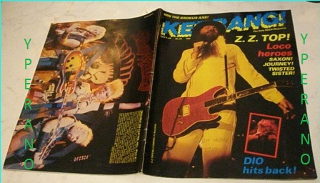 Kerrang No 39 Apr 1983 Near Mint Condition Zz Top On Cover