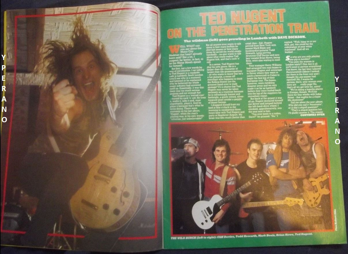 Kerrang No 61 February 1984 Mint Condition Ted Nugent