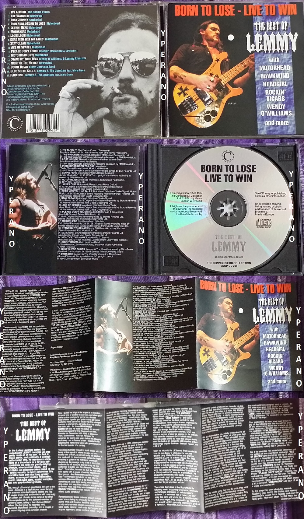 MOTORHEAD: Best Of Lemmy Born to lose - Live to win CD  Rare 1994 UK  Check  audio samples  Rockin Vicars, Hawkwind, Headgirl, Jarvinen Band,
