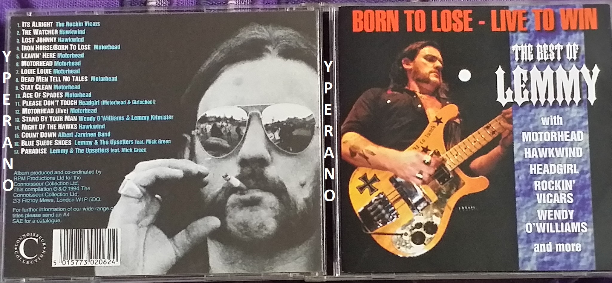 Motorhead Best Of Lemmy Born To Lose Live To Win Cd