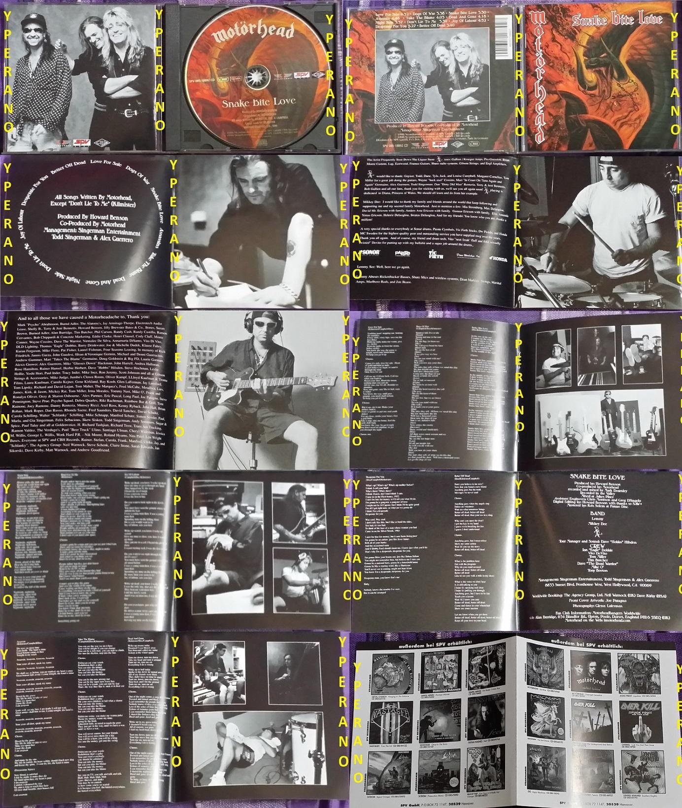 MOTORHEAD: Snake Bite Love CD 1998