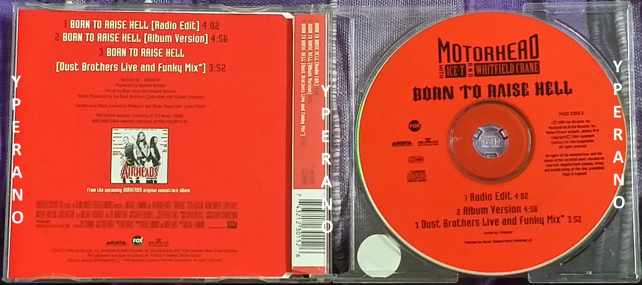 MOTORHEAD with Ice-T and Whitfield Crane: Born to raise Hell 3 track PROMO  UK CD  Check video