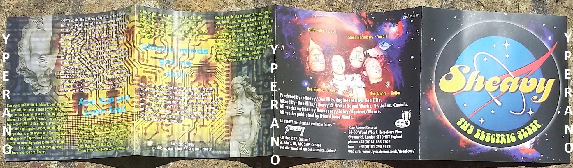 SHEAVY: The Electric Sleep PROMO CD  Original, 1st press 1998 RARE with 2  stickers  Stoner, Doom  Very Ozzy Osbourne like vocals! Check audio