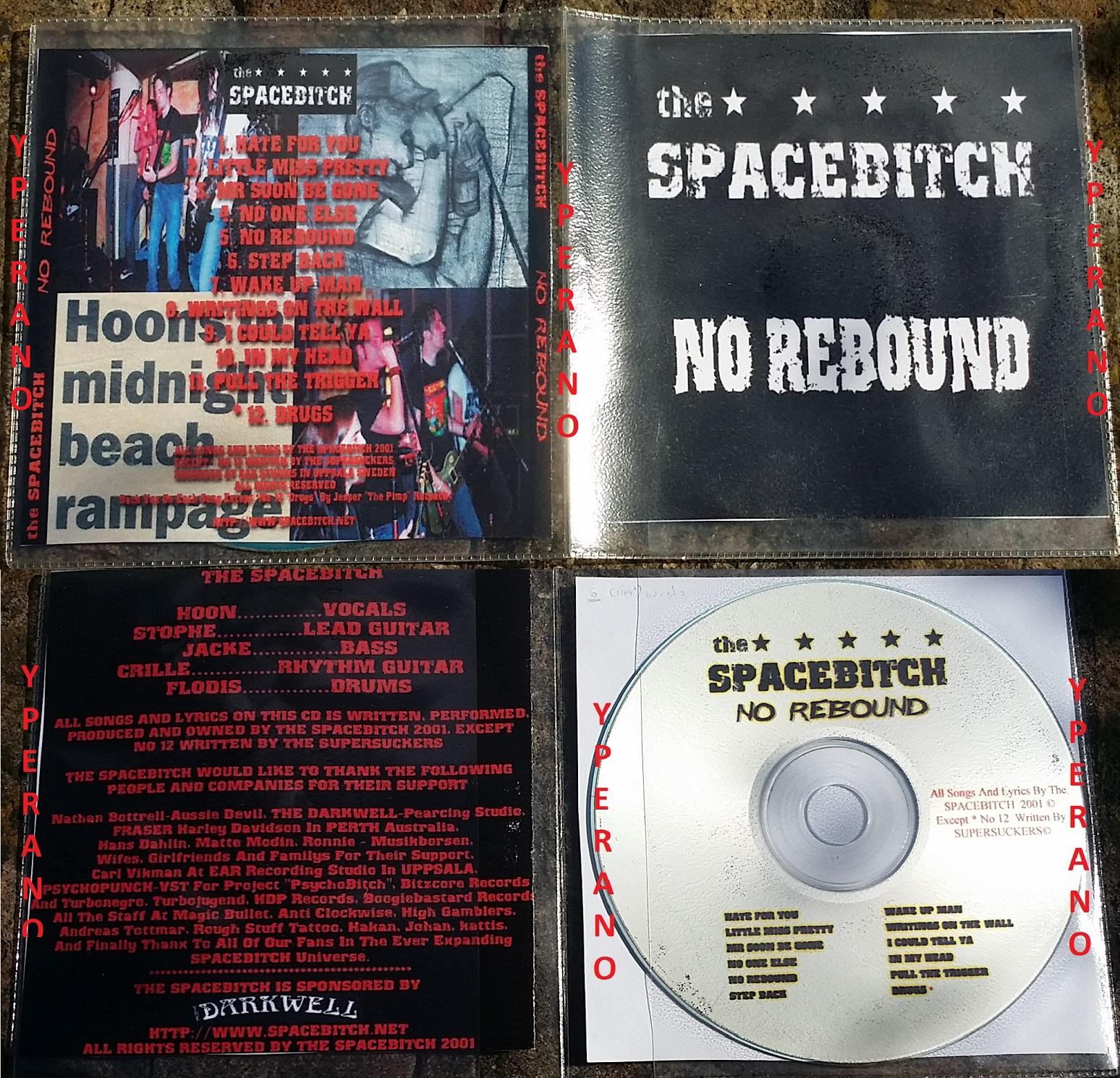 The SPACEBITCH: No Rebound PROMO CD demo RARE  12 songs a la Turbonegro,  Backyard Babies, Hellacopters, Motorhead