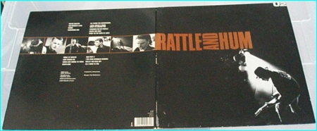 U2: Rattle and hum 2LP (DOUBLE LP - live and studio- gatefold  Inners w   lyrics + pics]  Includes several covers