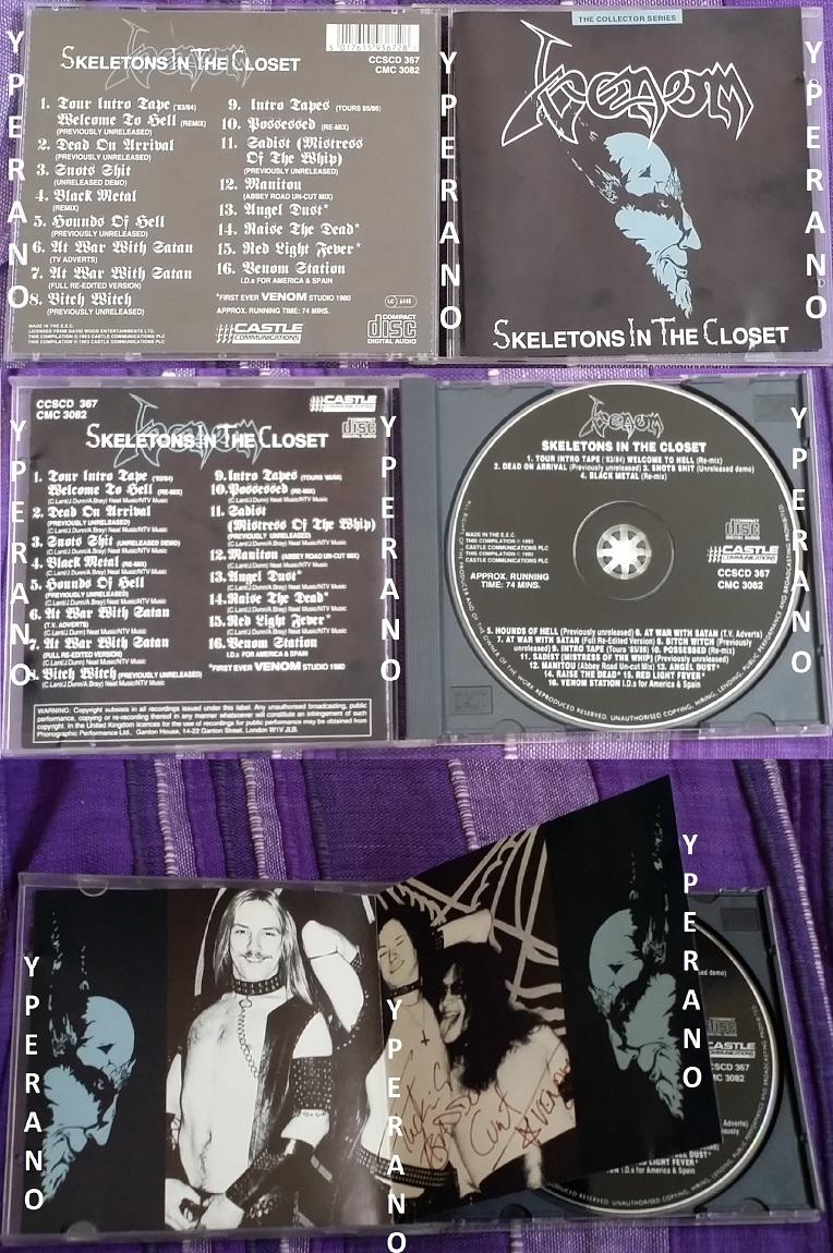 Venom Skeletons In The Closet Cd 1st Original 1993 Uk Demos Remixes Rarities Radio Tv Promos Etc Signed Autographed