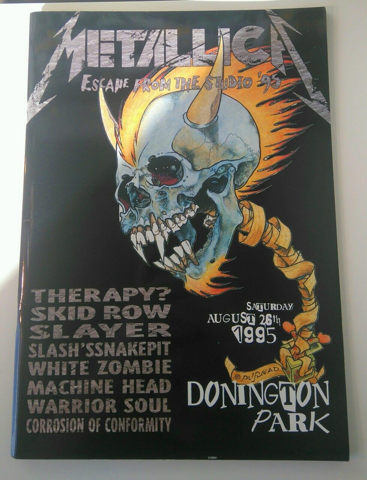 Monsters Of Rock Festival Programme Donington 1995 Signed