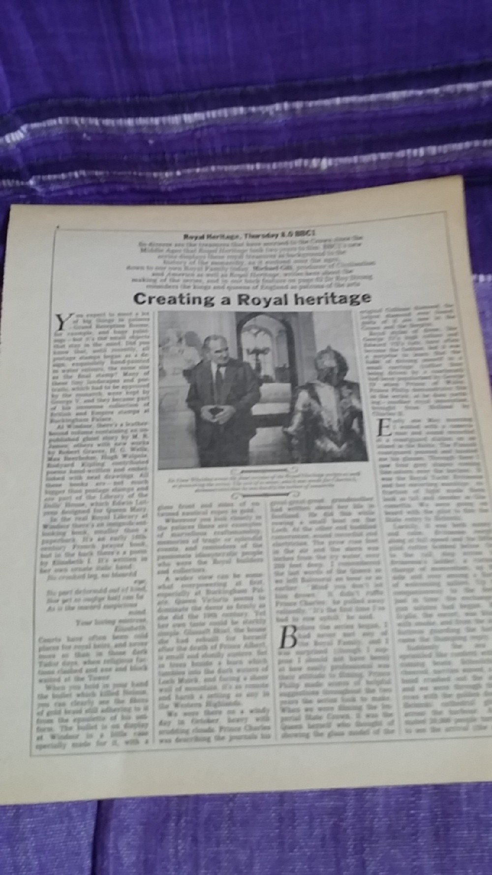 1924-1974. Fifty Years of Royal Broadcasts (Double LP) BBC record+ booklet, magazine cut outs + Letters from the PALACE