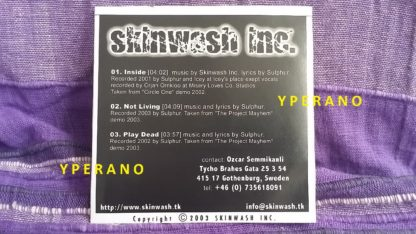 skinwash inc. PROMO CDR. Modern Metal. Check sample. Free £0 for orders of £15+