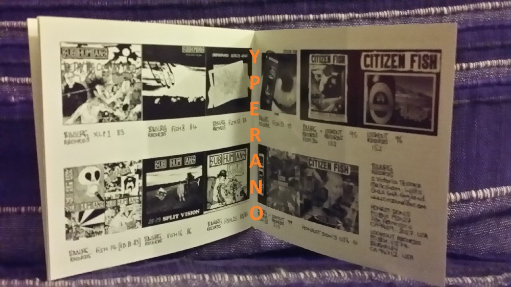 Subhumans: Live In A Dive CD  English anarcho-punk  Check samples  26 songs  + cool comic book artwork!