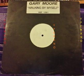 """Gary Moor: Walking By Myself 12"""" misprinted labels! wrong labels mispressings! Rare die cut card sleeve. Check video"""