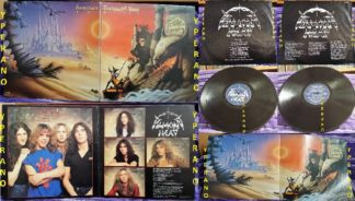 DIAMOND HEAD: Borrowed Time LP Gatefold UK + big poster + inner. Top NWOBHM. Check whole album (audio)