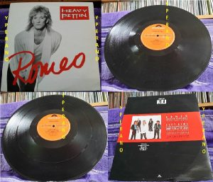 "HEAVY PETTIN: Romeo 12"" EP 1987, N.W.O.B.H.M / Rock / A.O.R check LIVE VIDEO"