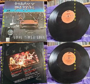 "HEAVY PETTIN: Love Times Love 12"" EP 1984 + exclusieve BBC version with crazy solos. Produced by Brian May of Queen. Check VIDEO"